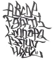 Alphabet - Graffiti by Total-903