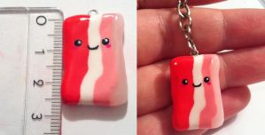 Bacon charm by CemeteryDrive87