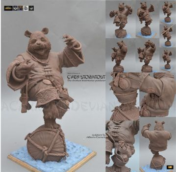 Chen Stormstout figure WIP by AlbertoCarrera