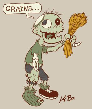 Vegetarian Zombie Design by kevinbolk