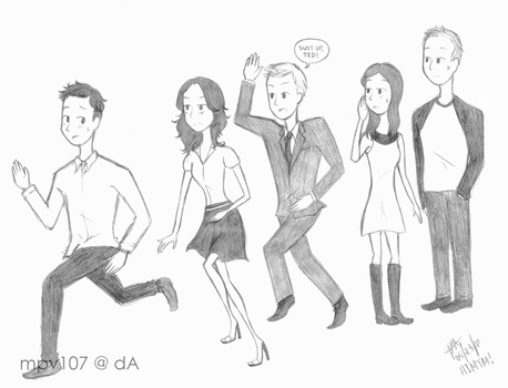 The How I Met Your Mother Gang by mpv107