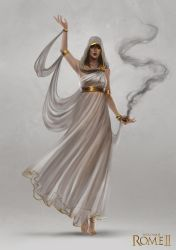 Total War: Rome II - Oracle Concept Art by telthona