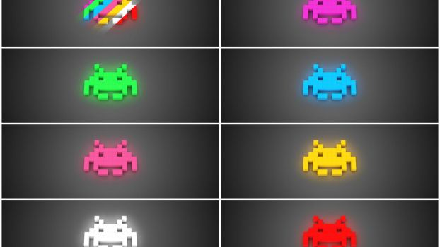 Space Invaders Lights by fernando-moran