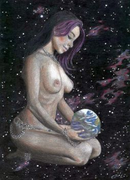 Ultraviolet Mother Goddess by phydeau