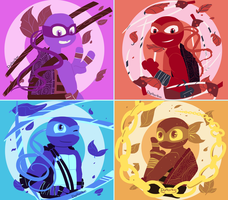 TMNT Color pallette by DigiHopeheart