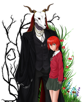 Elias and chise 2 by BettaBlue