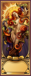 Wine Dryad (Working Title) by echo-x