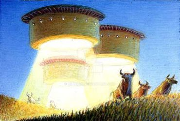 UFO Bull ring by mihalyo
