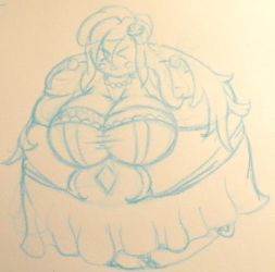 You may know kiss the blimp (inflated bride WIP) by AnomalousAntarctican