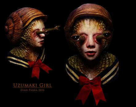 Uzumaki Girl - Professional Latex Display Mask  by evanparrafx