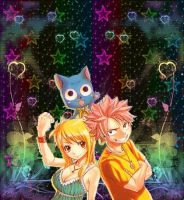 natsu, lucy and happy~ by Naluforeva