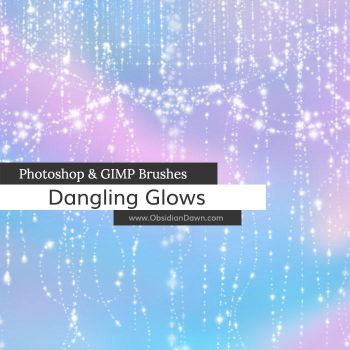 Dangling Glows Photoshop and GIMP Brushes by redheadstock
