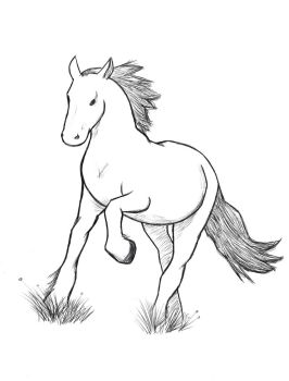 horse sketch by dogfutt