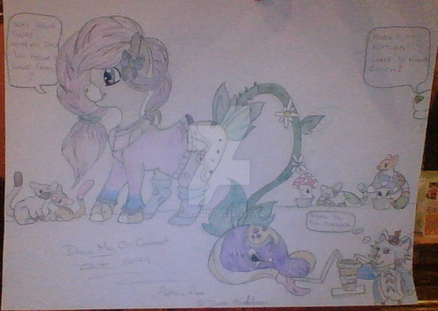 My Entry for the Draw My OCs Contest. by FlutterFizz