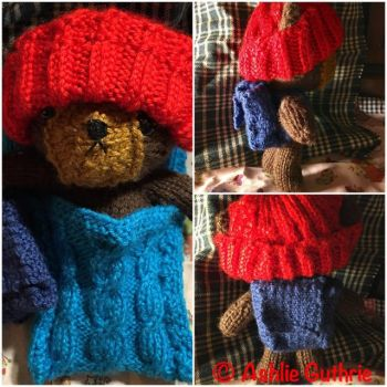 Caramel Bear with Accessories by BrickleBearsPlush