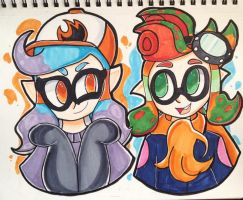 (Commission) Two Squidos by Procrastin8ingArtist