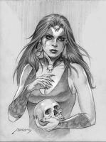 necromancer drawing by PaulAbrams