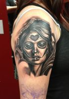 Day of the dead tattoo by 3598Joshuah