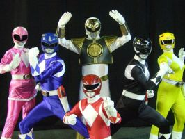 Mighty Morphin Power Rangers cosplay group by matt3335