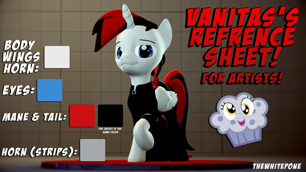 Vanitas Reference Sheet by TheWhitePone