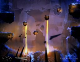 Forlorn Ruins Laser Room Concept by acapulc0