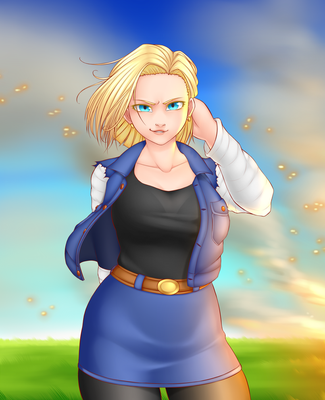 Android 18 by Imaginaricide