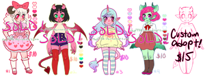 More Monster Girl Adoptables CLOSED! by rap1993
