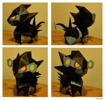 Giant Luxray Chibi by Ilona-the-Sinister