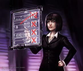 Elizabeth Mills - Android: Netrunner by Del-Borovic
