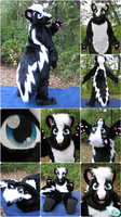 Kamon the Skunk Fursuit (2017) by Eternalskyy