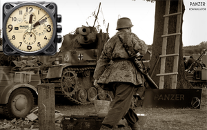 Panzer Clock and Stopwatch Yahoo Widget by yereverluvinuncleber