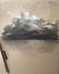 charcoal clouds by mopdtk