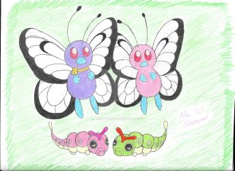 Butterfree's family by Ms-Sharazar