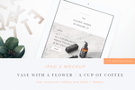 iPad 2 Mockup (Flower and Cup) by theanthnonyrich