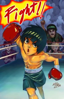Rock Lee boxing by meomeoow