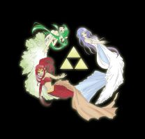 The Legend of Zelda - Three Goddesses by evalunaofficial