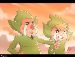 Tingle and Link by thegreyzen