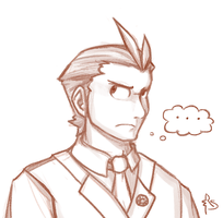 Portrait Time - Apollo Justice by RisingSunfish