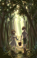 Up the Hill - Forest Stroll by Zerii-chan