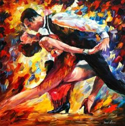 Tango Of Passion by Leonid Afremov by Leonidafremov