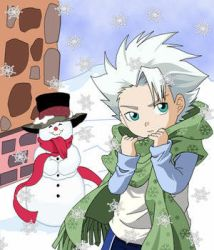 XToshiroX Snow and Christmas by Bleach-Squad-10-Club