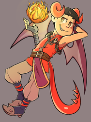 Dragon Oso by CrescentMarionette