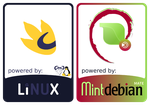 GNU Linux and Mint Debian MATE Stickers by nashabah