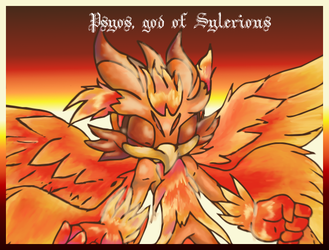 Psyos, God of Sylerious by Chime-Fawler