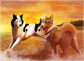 FSK: Collab: Romp in the Sunset by LadyLirriea