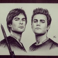 Damon and Stefan by artistiq-me