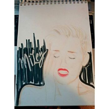 unfinished miley by SunflowerVal