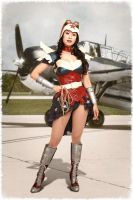 Steampunk Wonder Woman Cosplay Costume by ApotheosisCosplay