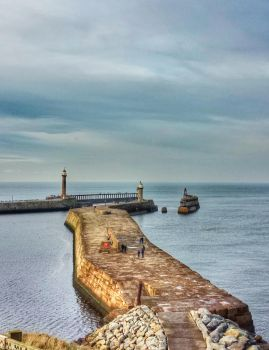 Whitby Harbour  by someonesinthewolf