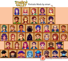 [Mods] ALL Villager Portraits in Stardew Valley by our-times